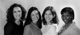 From left to right Rosann Lana, MD, Lisa Gelman-Koessler, MD, Emily Fleming Williams, MD, Emmekunla Nylander, MD